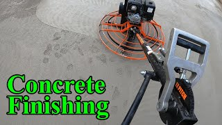 How to operate a concrete finishing machine (power trowel)