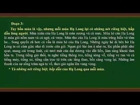 TLV 5. TIẾT 13. LUYỆN TẬP TẢ CẢNH
