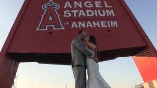 Ryan and Jayme Angels Stadium Wedding