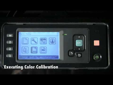 HP Designjet Z2100 Printer - Print Head Alignment and Colour Calibration