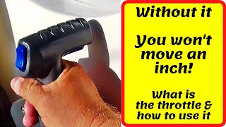 How to drive a boat: How to use a boat power lever or throttle