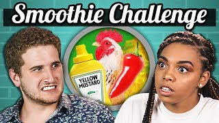 SMOOTHIE CHALLENGE!!! (Gross Ingredients) | College Kids Vs. Food