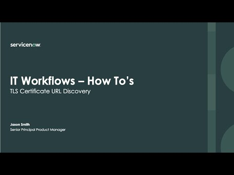 How To - TLS Certificate URL Discovery - YouTube