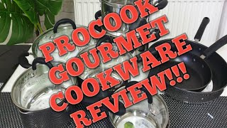 Procook gourmet stainless steel cookware 8 piece set review