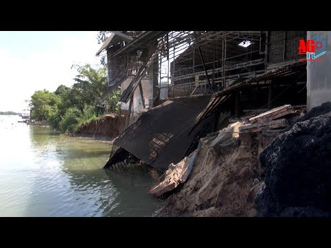 Tân Châu: Sạt lở đất bờ kênh xáng, gây thiệt hại 1,5 tỷ đồng