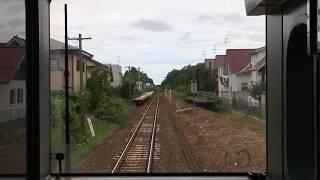 JR男鹿線追分~出戸浜前面展望EV-E801系Accumulatordriventrain,JROgaLine,OiwaketoDetohama,Akita2018.8