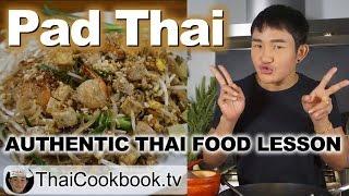 Authentic Thailand Recipe for Pad Thai Noodles - ผัดไทย
