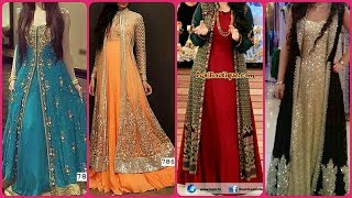 Very Attractive Beautiful & Stylish Party Wear Long Gown With Maxi Dress Designs