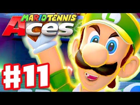 Mario Tennis Aces Walkthrough - Part 8 - ZackScottGames Vs  Abdallah