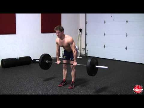 Barbell Straight-back Stiff-leg Deadlift