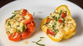 Фаршированные перцы с куриным мясом | АСМР | Рецепт