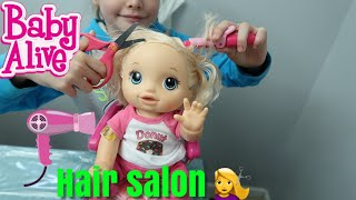 BABY ALIVE Hair Salon Babys Pumkins First Hair Cut