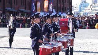 横浜消防出初式2018<br>消防音楽隊ドリル演技