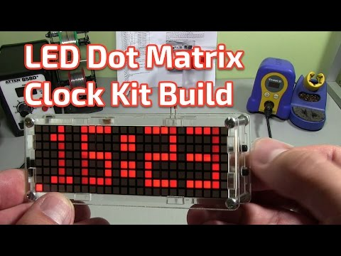 EC1515B 4-digit Rotating LED Electronic Clock Kit Build