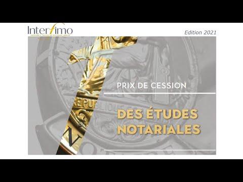 Prix de cession des études notariales en 2020