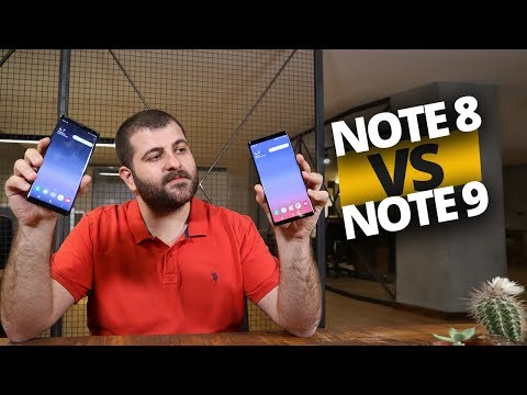 Android Pie Yüklü Galaxy Note 8 ile Note 9 karşı karşıya!
