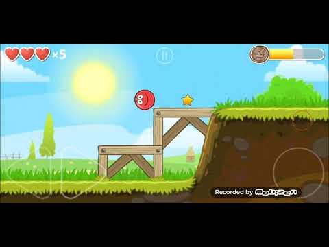 Red Ball 4 прохождение 1-3 уровень(1-3 level), красный шар 4