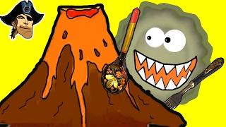 Игра Съедобная планета #3 прохождение Глазастик съел #ВУЛКАН! Динозавры в ШОКЕ! мульт игра для детей