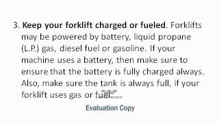 How to Maintain a Forklift