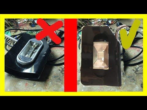Halogen-Strahler/ Deckenfluter umbauen zum LED-Strahler