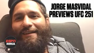 """Order UFC 251 here on ESPN+ espn.com/ppv  Jorge Masvidal speaks with ESPN MMA's Ariel Helwani about the (0:51) timeline and negotiations with the UFC for him to fight Kamaru Usman on short notice at UFC 251. """"Gamebred"""" talks about (9:30) his weight cut and how he stayed active after the original negotiations stalled weeks ago. Masvidal explains (11:51) why he doesn't like Usman and gives respect to (15:49) Nate Diaz, offering his BMF title foe a rematch if he wins the welterweight title on Saturday. (20:09) Masvidal reacts to the betting odds for the fight and breaks down how he matches up with the 170 pound champ.  #UFC251 #UFC #ESPNMMA ✔ For more UFC, sign up for ESPN+ https://plus.espn.com/ufc ✔ Get the ESPN App: http://www.espn.com/espn/apps/espn ✔ Subscribe to ESPN on YouTube: http://es.pn/SUBSCRIBEtoYOUTUBE ✔ Subscribe to ESPN FC on YouTube: http://bit.ly/SUBSCRIBEtoESPNFC ✔ Subscribe to NBA on ESPN on YouTube: http://bit.ly/SUBSCRIBEtoNBAonESPN ✔ Watch ESPN on YouTube TV: http://es.pn/YouTubeTV  ESPN on Social Media: ► Follow on Twitter: http://www.twitter.com/espn ► Like on Facebook: http://www.facebook.com/espn ► Follow on Instagram: http://www.instagram.com/espn  Visit ESPN on YouTube to get up-to-the-minute sports news coverage, scores, highlights and commentary for NFL, NHL, MLB, NBA, College Football, NCAA Basketball, soccer and more.   More on ESPN.com: http://www.espn.com"""