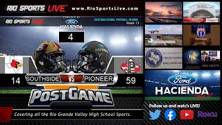 Friday Night Football SA Southside Vs. Sharyland Pioneer Week 12 Bi-District Playoffs (audio)