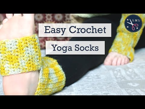 Easy Crochet Yoga Socks! Step By Step Crochet Tutorial   | Last Minute Laura