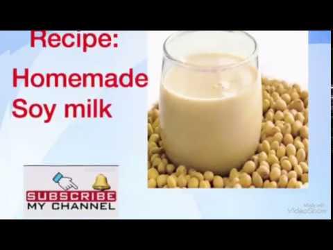 How to make homemade soya milk / Soya milk homemade recipe