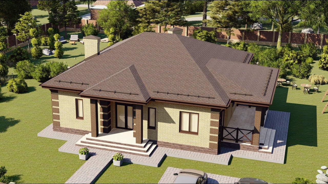 Одноэтажный проект дома от Строительной компании Апрель