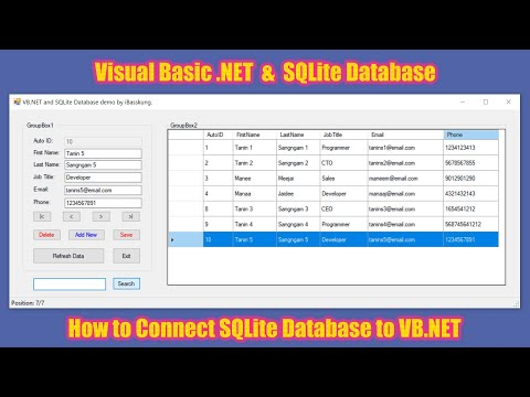 Programming in Visual Basic .NET - How to Connect VB.NET with SQLite Database