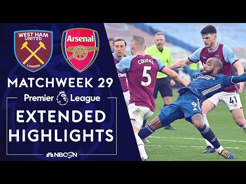 West Ham v. Arsenal   PREMIER LEAGUE HIGHLIGHTS   3/21/2021   NBC Sports
