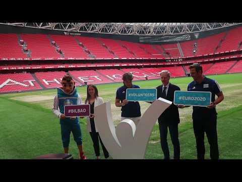 Embajadores Federación Julen Guerrero y Carlos Marchena Presentación Euro