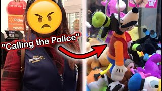 KICKED OUT OF WALMART FOR WINNING TOO MUCH AT CLAW MACHINE *COPS CALLED* | JOYSTICK