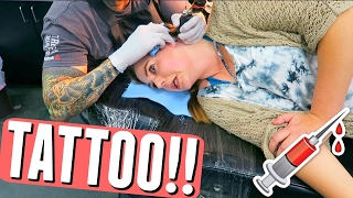 Getting My First Tattoo Vlog (I Freaked Out A Little)