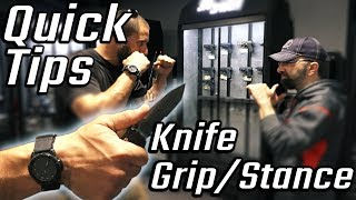 Knife grip and stance feat. former Israeli Special Forces