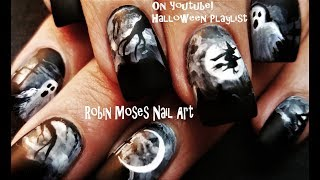Halloween Nails! Paint This Graveyard For Pennies! DIY Nail Art Design Tutorial