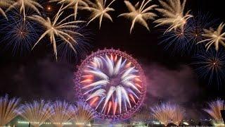 Nieuwjaarskaarten, Groots vuurwerk
