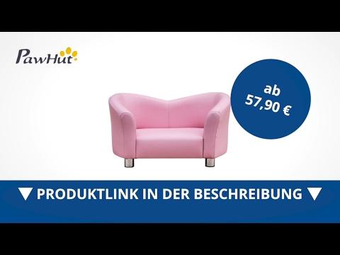 PawHut Luxus Hundesofa Hundecouch Kunstleder KatzenSofa Hundebett Tierbett rosa - direkt kaufen!