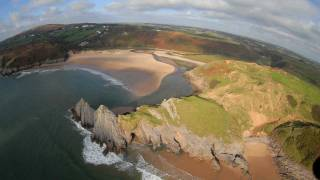 preview picture of video 'Three Cliffs Bay - Gower Peninsula Wales'
