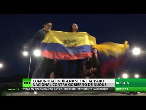 La comunidad indigena se suma al paro nacional en Colombia contra el Gobierno de Ivan Duque