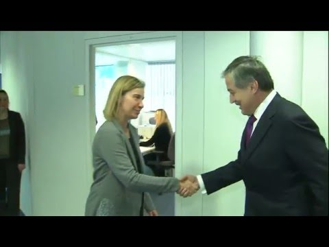 Images of the HRVP with Sirojiddin ASLOV, Foreign Minister of Tajikistan