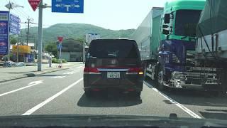 4K国道197号等速下りその5大分県大分市・佐賀関港→大分市街国道10号