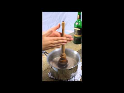 Using A Molinillo to Make Hot Chocolate