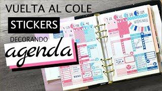 DECORA TU AGENDA ( STICKERS) -  VUELTA AL COLE v1