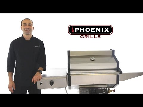 Phoenix Sdbocp Stainless Steel Propane Gas Grill Head On