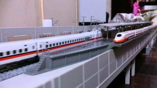 N規鐵道模型 2015.02.03 台灣高鐵列車離站