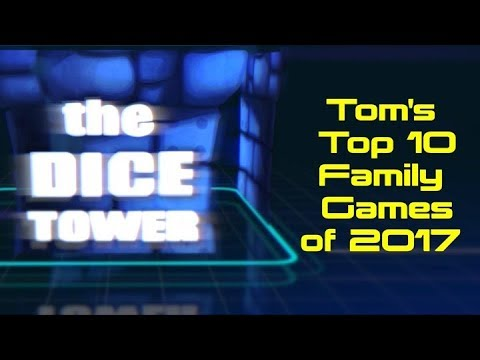 Top 10 Family Games of 2017 - with Tom Vasel