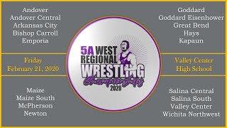 5A West Regional Wrestling --- Day 1 --- Friday February 21, 2020