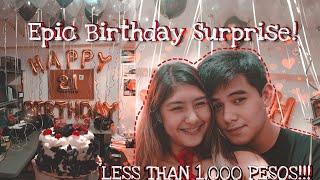 LESS THAN 1,000 PESOS SURPRISE For My Boyfriends Birthday! (Tipid Pero Pak Na Pak!)
