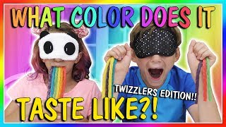 WHAT COLOR DOES IT TASTE LIKE? - TWIZZLERS EDITION | We Are The Davises